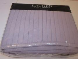 Ralph Lauren Luna Channel Pick Stitch full queen quilt lilac purple - $169.70
