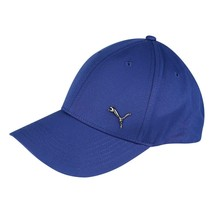 Puma Blue Hat Metal Logo Cat Cap 6 Panel  Adults Unisex Curved Strapback... - $24.23