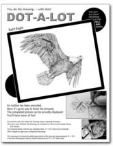 US Bald Eagle bird wildlife stippling drawing kit art crafts DIY project... - $25.69