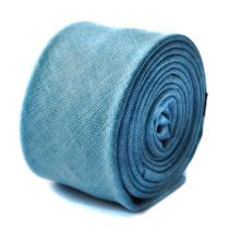 Frederick Thomas sky blue linen textured tie FT1646