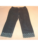 Tommy Hilfilger for Bloomingdales Woman Sz 14P Blue Jean Zip Front Casua... - $18.80