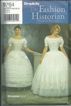 Simplicity 9764HH Sewing Pattern Misses Costumes Petticoat Size 6-12 - $20.78