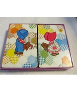Vintage Hallmark Patchwork Quilt Plastic Coated Playing Cards 2 Decks in... - $12.37