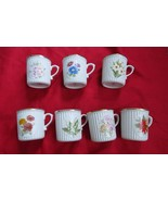 Vtg made in Czechoslovakia Bohemia flower  of the month cups u choose - $7.75