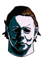 Trick or Treat Halloween 1978 Michael Myers Horror Goth Punk Enamel Pin SFTI101 image 1