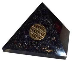 70mm Orgone Tourmaline & Flower pyramid - $49.99