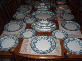 ANTIQUE PORCELAIN KEELING & CO. WATFORD PATTERN LATE MAYER FOR SIX  - $604.60