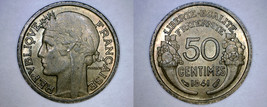 1941 French 50 Centimes World Coin - France - $4.99