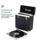 Retround Vintage Retro Vinyl Leather Record Storage Carrying Case for 45... - $67.94