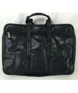 Wilsons Leather Black Shoulder Messenger Laptop Bag Briefcase Large - $142.50