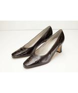 Van Eli 6.5 Brown Alligator Print Pumps Women's Shoe - $32.00