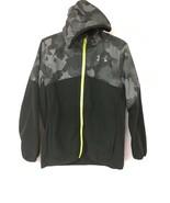 Under Armour Boys' Print North Rim Micro Fleece Jacket, Green, L(14/16) - $38.69
