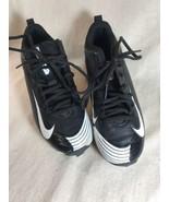 Nike Black White BSBL Vapor Baseball Sport Shoes Cleats Sz 2.5Y - $13.78