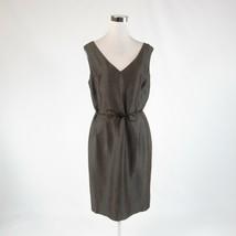 Gray brown iridescent ANNE KLEIN sleeveless sheath dress 12 - $29.99