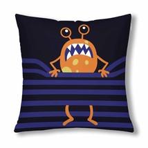 InterestPrint? Orange Monster Trap on Rope Cartoon Throw Pillow Cover 18... - $263,62 MXN