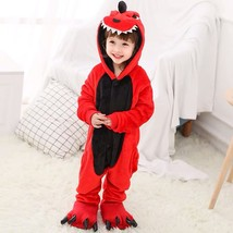 Kid's Kigurumi Pajamas Dinosaur Animal Onesie Pajamas Flannel Toison Gre... - $10.00