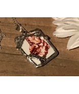 Recycled Porcelain Jewelry, Western Collection, Cowgirl Pendant - $35.64