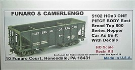 Funaro & Camerlengo HOn3 East Broad Top 800 Series Hopper Kit 5102 image 1