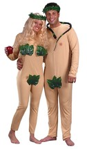 Adam & Eve Couples Adult Costume Bible Jumpsuit Halloween Funny Unique F... - £37.29 GBP