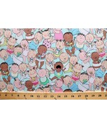 Cotton  Cry Baby II Babies Bottles Allover Blue Fabric Print by the Yard... - $12.49
