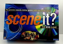 Mattel Scene it? Movie Trivia The DVD Game 2003 Real Movie Clips Sealed New - $19.78