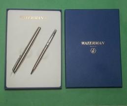 Waterman Expert Fountain Pen and Ballpoint Pen Metalic Set in Box Paris  - $67.90