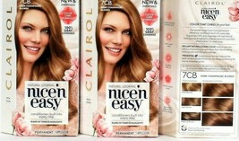 3 Clairol New & Improved Nice'N Easy 7CB Dark Champagne Blonde Permanent... - $26.99