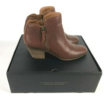 FRYE Judith Zip Bootie 8.5 M Whiskey Leather Side Zip Ankle Boots 347173... - $110.88