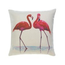Throw Pillows, Polyester Pink Flamingo Throw Pillow Cushion For Bedroom ... - ₨2,064.11 INR