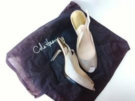 Cole Haan Air Peep Toe Leather Pearl Metallic Sling Back Shoes 10.5 Womens Heels - $42.00