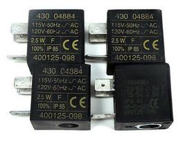 LOT OF 4 ASCO 400125-098 SOLENOID VALVE COILS 43004884