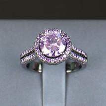 Women Fashion Purple Crystal Ring 5a Zircon Jewelry Black Gold Filled Fi... - $16.74