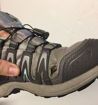 Women's Salomon XA Comp 7 Trail-Running Hiking Athletic Shoes Size 6.5 Gray Teal image 9