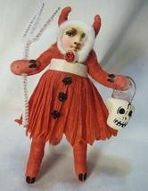 Vintage Inspired Spun Cotton , Devil Girl Halloween image 1