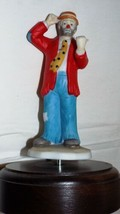 "Music Box Clown 7"" Tall With Base RED Shirt Free Shipping - $20.69"