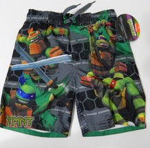 489daa0095 Teenage Mutant Ninja Turtles Boys Swim Trunks Size 4 Ties at Waist TMNT .