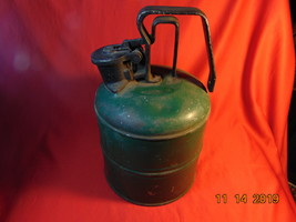 Antique, One (1) Gallon, Pressed Steel & Cast Iron, Justrite Safety Can. - $39.99