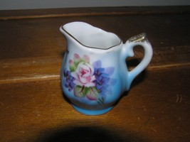 Vintage Small Made in Japan Pink Rose Painted Porcelain Pitcher – 2.5 in... - $8.59