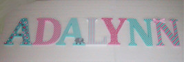 Wood Letters-Nursery Decor- Pink & Teal, Pink and Turquoise Elephant the... - $12.50