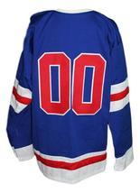 Custom Name # Philadelphia Ramblers Retro Hockey Jersey New Blue Any Size image 2
