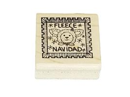 Fleece Navidad Rubber Stamp image 1
