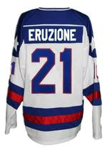 Any Name Number USA Miracle On Ice Hockey Jersey Eruzione White Any Size image 2