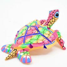Handmade Oaxacan Copal Wood Carving Painted Sea Turtle Marine Figurine image 5