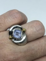 Vintage 925 Sterling Silver Genuine Blue Chalcedony Ring - $107.37
