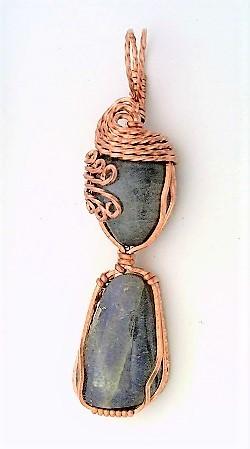 Labradorite Copper Wire Wrap Pendant 37