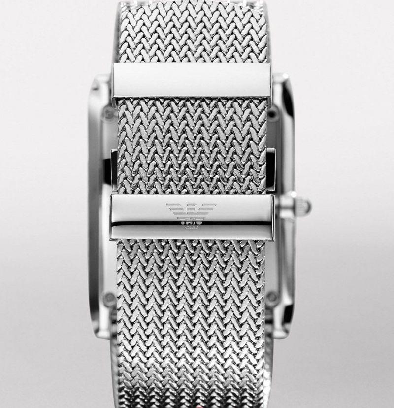 Emporio Armani Ar2014 Mens Silver Dial Mesh and 50 similar items