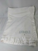 """Carters White Baby Blanket Adorable About 30"""" x 40"""" - $29.95"""