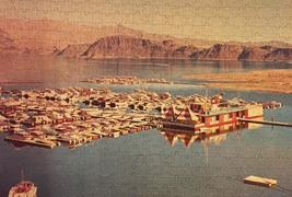 "Vintage 50s Warren Diamond Lock Picture Puzzle- #600 ""Lake Mead Marina""  image 2"