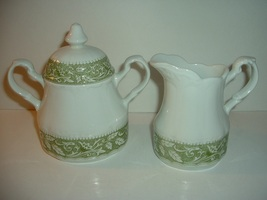 J & G Meakin Sterling Colonial Ironstone England Creamer and Sugar - $29.99