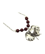 Link Elephant Head Necklace with Luctite Beads - $12.95